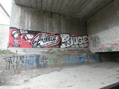 street art, graffiti, Budapest, XIII. kerület,  Rákos patak, Vizafogó utca, metró, alagút, híd