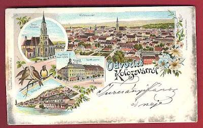Kolozsvár, képeslap, régi, alt, Erdély, Cluj,  postcard, carte postala, ansichtskarten, Clausenburg, postcarten, látkép