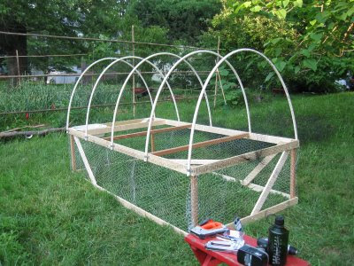 Building a pvc chicken tractor small blog for Pvc chicken tractor plans