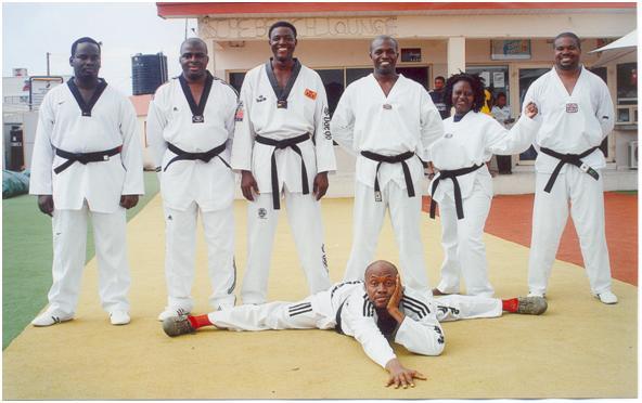 Lekki Taekwondo Academy (LTA) Inaugural Black Belt College & pioneer-members,  Lagos, Nigeria,