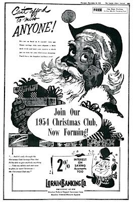 Brady's Lorain County Nostalgia: 1953 Lorain Banking Company Christmas ...