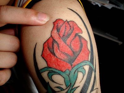 tribal rose tattoo 3