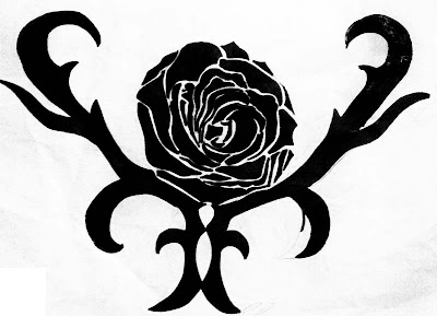 tribal rose tattoo design 1