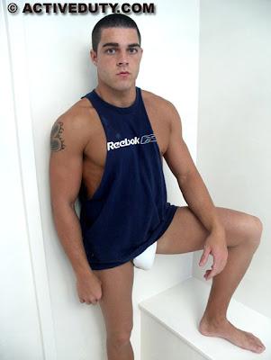 gaydreamblog gay naked guy thomas from active duty shows his big dick in a jockstrap