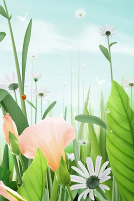 Beautiful Green Digital Art iphone 3g  wallpaper