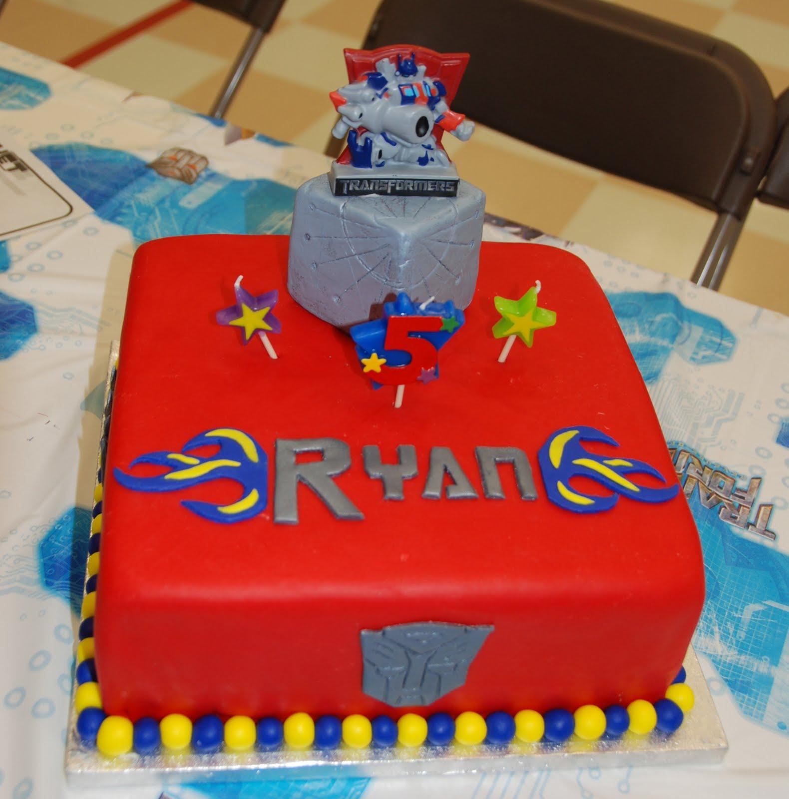 Cake Creations By Trish Transformers Birthday Cake
