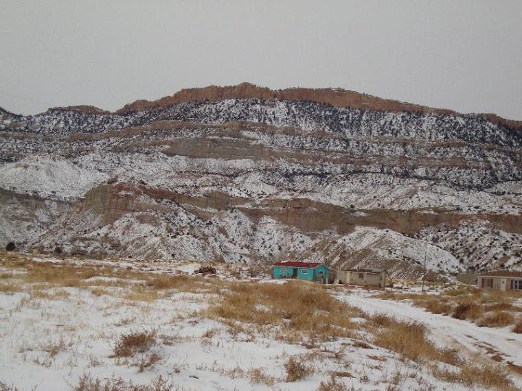 Blue house at Black Mesa