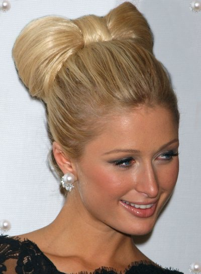 Paris Hilton Updo Party Blonde Hairstyles