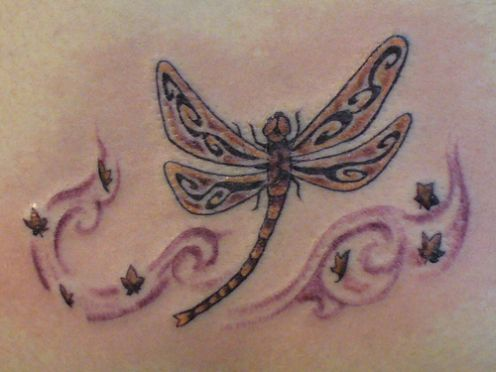 Tribal Dragonfly Tattoo Design. A single with the greatest points I can