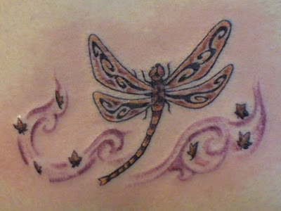 Tribal Dragonfly Tattoo Design