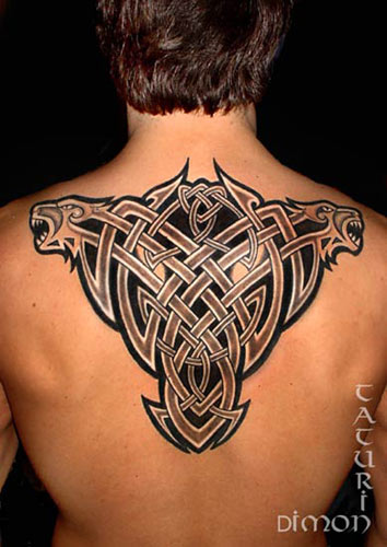 Celtic love knot is hot in fashion for girls tattoos.