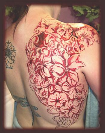 flower tattoo,tribal tattoo,exotic
