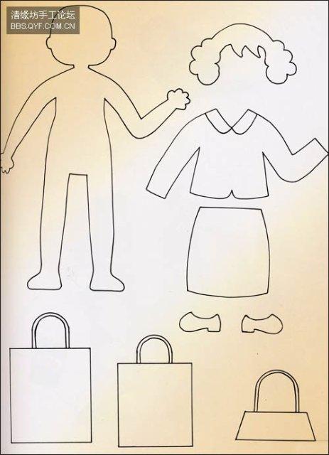 Muñecos de fieltro con patrones