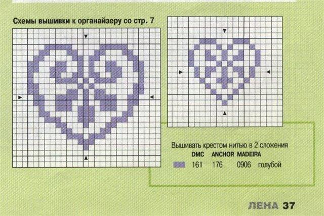 Простейшие вышивки крестом схемы для детей простые 937