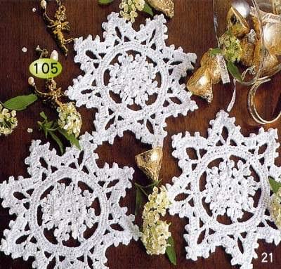 grfico a crochet estrella para el rbol de navidad
