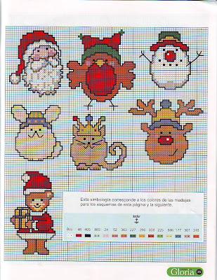 Motivos navide os en punto de cruz lodijoella - Como hacer motivos navidenos ...