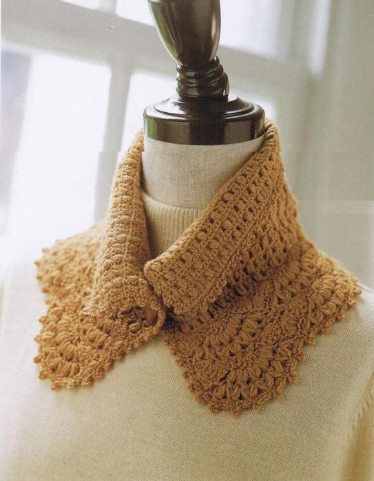 Cuellos tejidos en crochet ,patrones