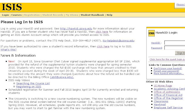 Www.uiowa.edu - University of Iowa ISIS - Login to Student Information System