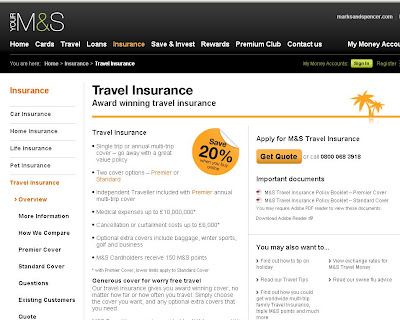 Marks and Spencer Travel Insurance - Marksandspencer.com/Travelinsurance
