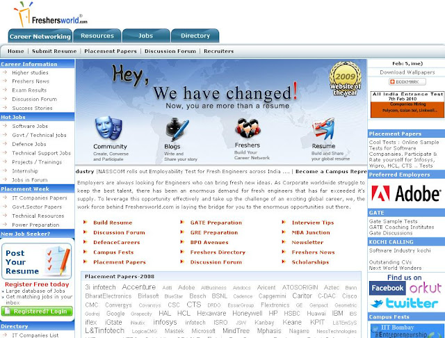 Freshersworld Govt Jobs - Login to Freshersworld.com for Hot Jobs