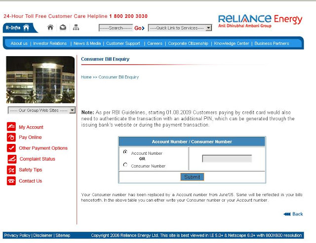 Www.rel.co.in Energy Bill Online Payment - Reliance Electricity Bill Pay
