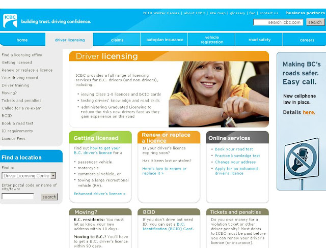 www.ICBC.com - ICBC Road Test Booking Online - Drivers License Test