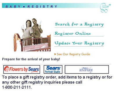 Sears bridal registry wedding gifts