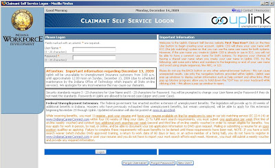 Claimant Self Service : Login to uplink.in.gov/css/csslogon