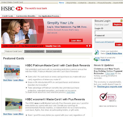 HSBC Card Services - Login to www.HsbcCreditCard.com