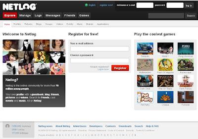 Netlog : Login to Netlog.com for online games, massages & fun
