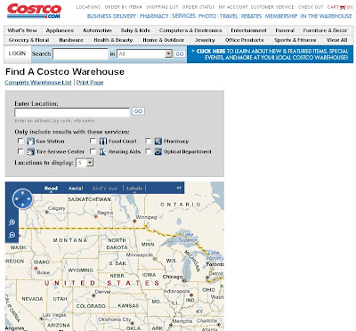 Using Costco Store Locator to Find Locations in USA