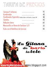 Tarifa de precios La Gitana 2010