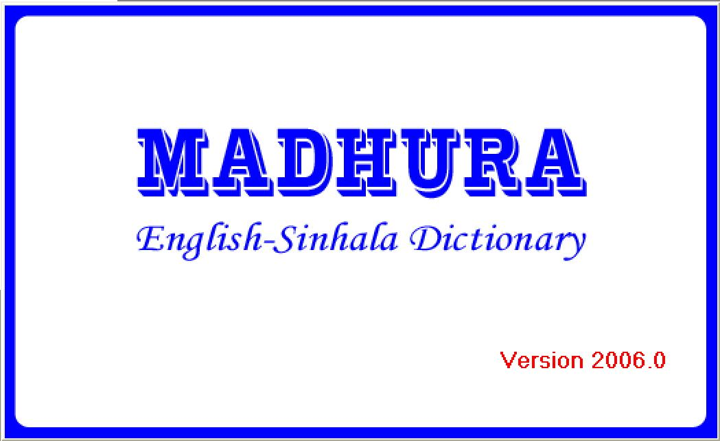 madura english sinhala dictionary 16 mb