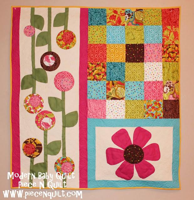 Piece n quilt modern baby quilt tutorial