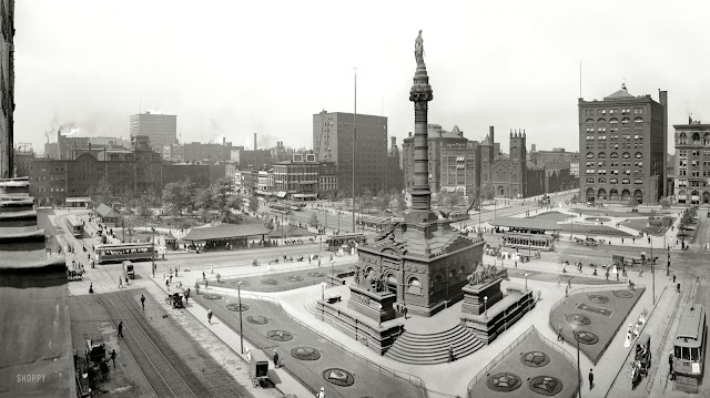 Public Square 1907 courtesy of Shorpy/Detroit Press