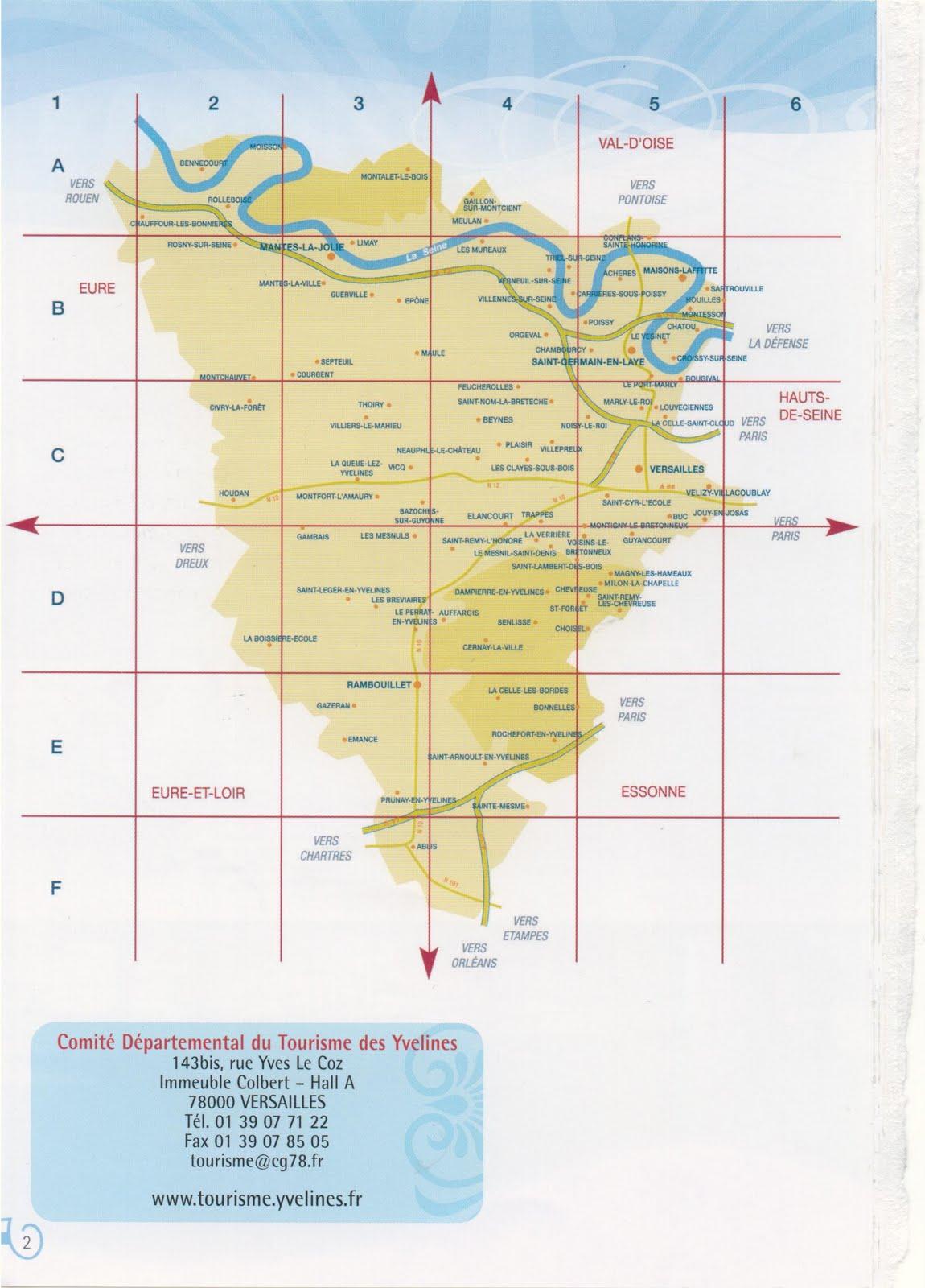 Mes idees de sorties sympa carte touristique des yvelines for Lieux touristiques yvelines
