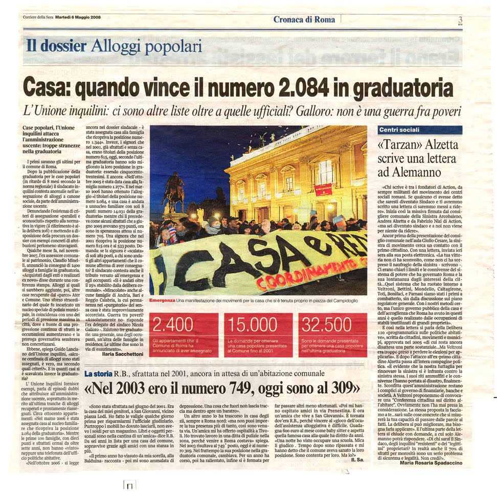 Tg roma talenti 05 01 2010 06 01 2010 for Corriere della sera casa