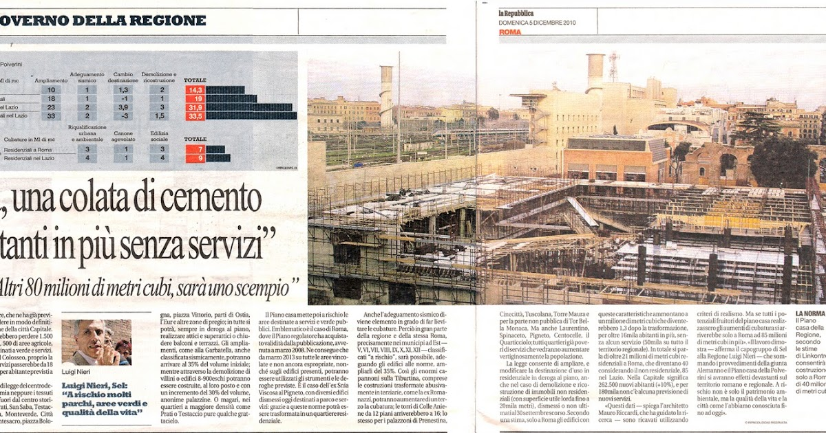 Tg roma talenti piano casa della regione lazio una for Generatore di piano casa