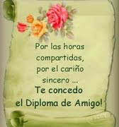 DIPLOMA  A  LA  AMISTAD.