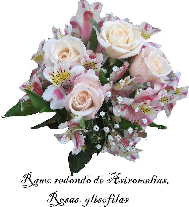 Ramo redondo astromelias y variedad de flores