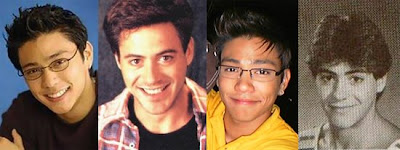 Drew Arellano and Robert Downey, Jr.