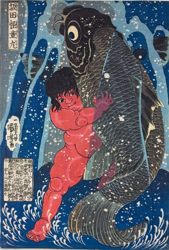 Estampes japonaises Kuniyoshi-Sakata-Kaidomar-011