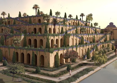 Art monie jardins suspendus de babylone for Jardin suspendu babylone