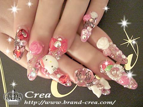 berrycake kitty nails