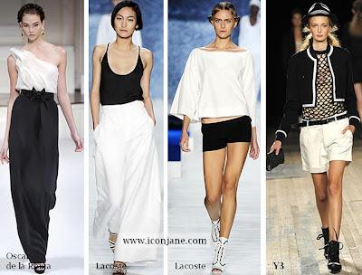 siyah beyaz moda trend 2010 yaz 1