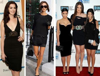 unluler kucuk siyah elbise