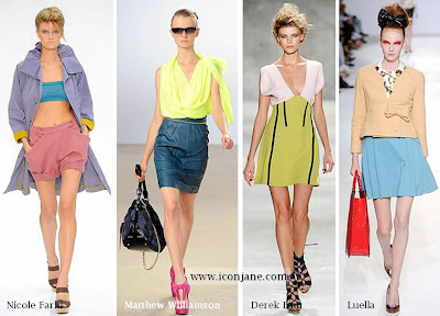 2010 yaz moda trend iki renkli kiyafetler 2