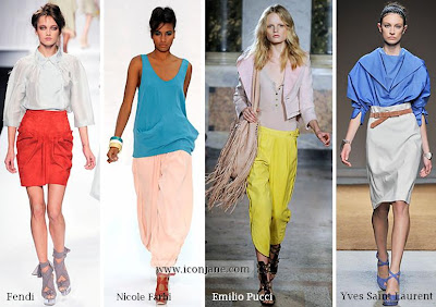 2010 yaz moda trend iki renkli kiyafetler 4