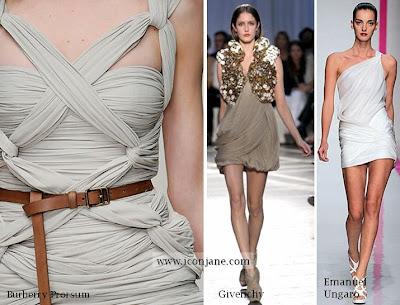 2010 yaz moda drape elbise 6