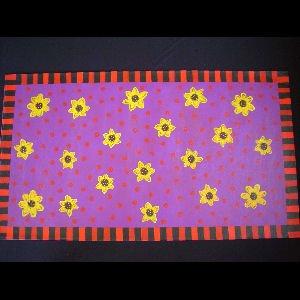 Black Eyed Susans on Purple - Sold